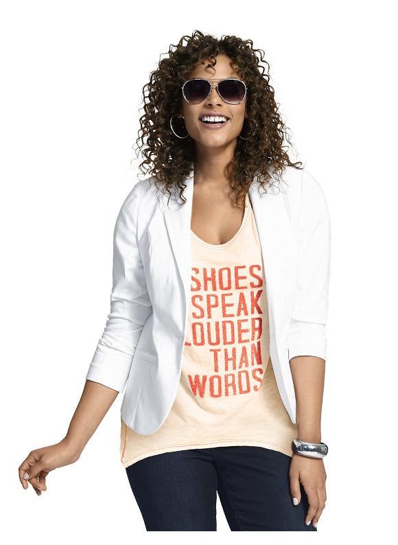 Lane Bryant Plus Size Shoes seamed tee Size 26/28, orange - Lane Bryant ~ Trendy Plus Size Clothes