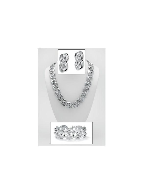 Three-Piece Curb-Link Jewelry Set by PalmBeach Jewelry