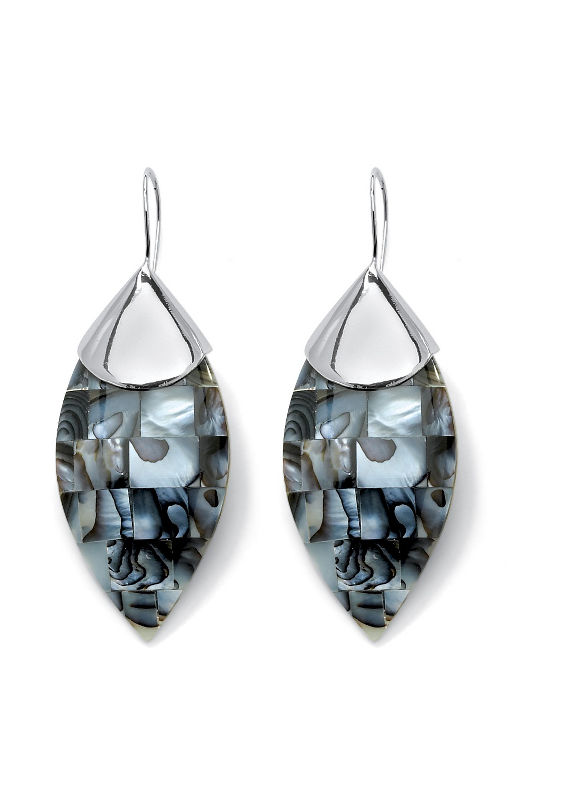 Mother-of-Pearl Drop Earrings by PalmBeach Jewelry