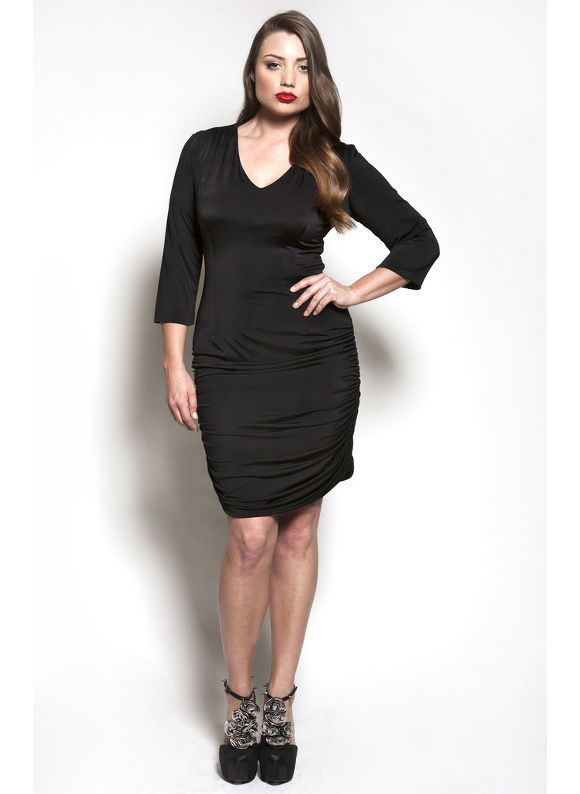The Baize Dress in Black by Queen Grace