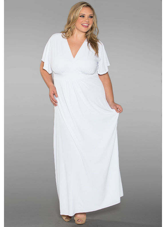 Classic Plus Size Maxi Dress in White by SWAK Designs