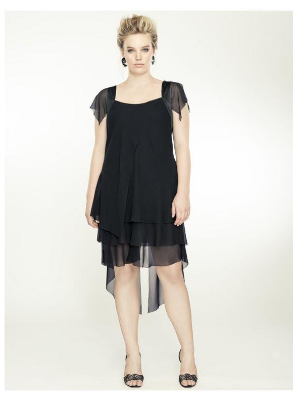 9437933d20b Lane Bryant Plus Size Handkerchief cocktail dress by Isabel Toledo Womens