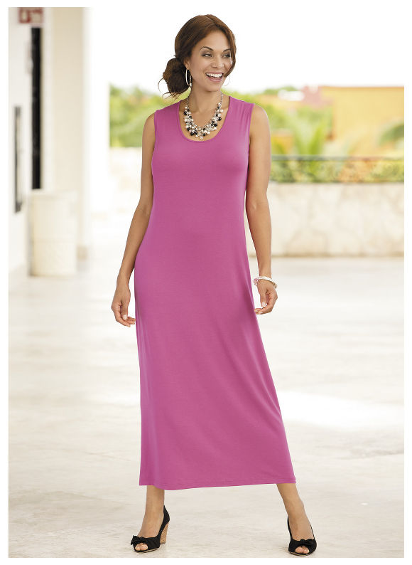 Versatile Knit Maxi Tank Dress by Ulla Popken