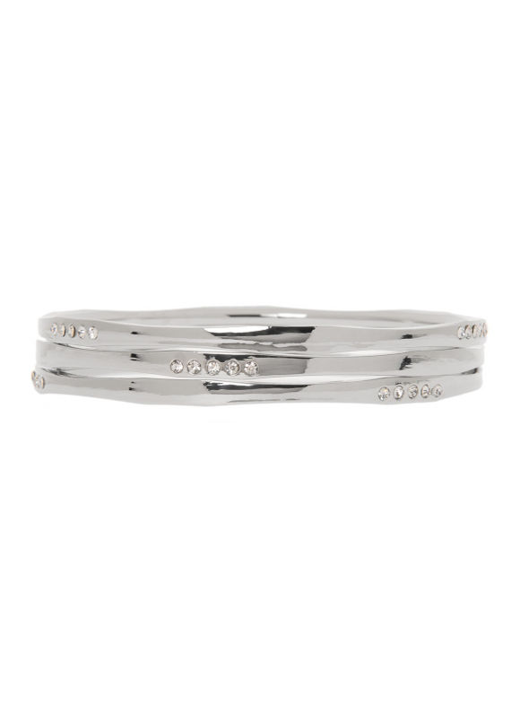 Lane Bryant Women's 3 row curved bangle bracelet set by - Lane Bryant ~ Trendy Plus Size Clothes