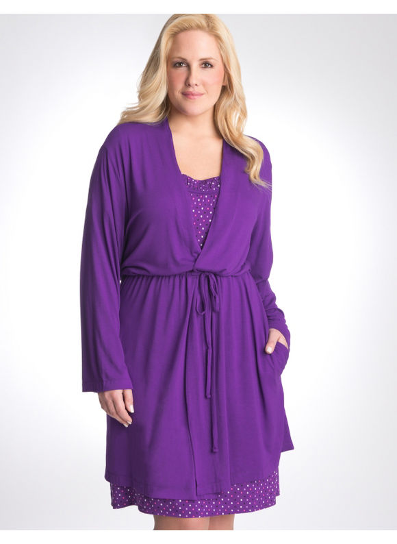 Lane Bryant Tru to You robe - Women's Plus Size/Deep Purple - Size
