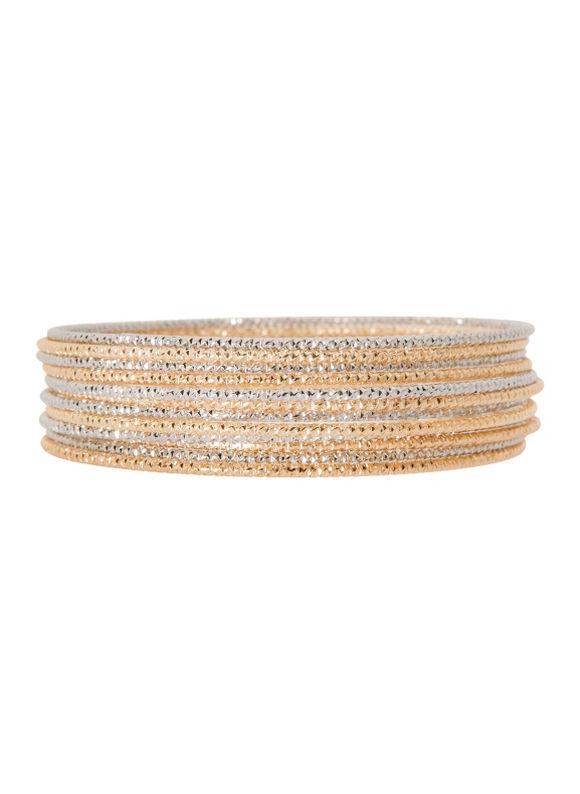 Lane Bryant Women's 12 row bangle bracelet set by - Lane Bryant ~ Trendy Plus Size Clothes