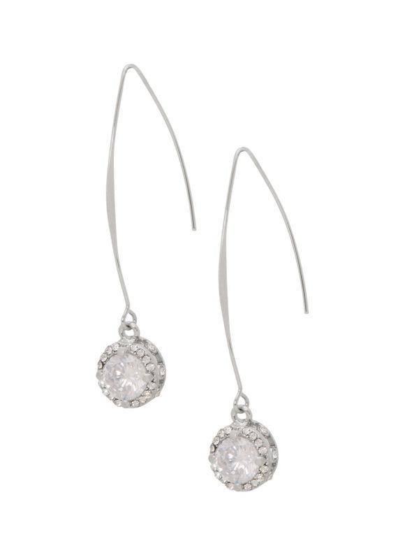 Lane Bryant Women's Bezel set drop earrings by - Lane Bryant ~ Trendy Plus Size Clothes