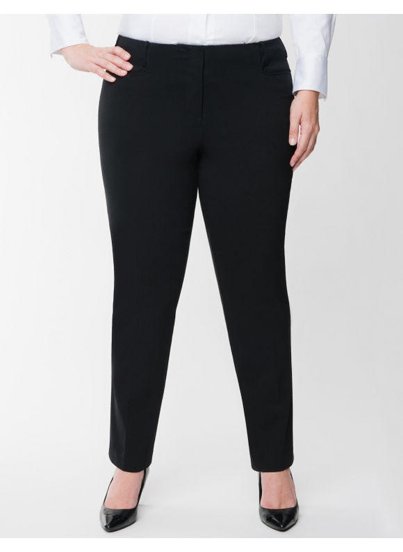 Lane Bryant Plus Size Straight fit Sexy Stretch straight leg pant Size 16, black