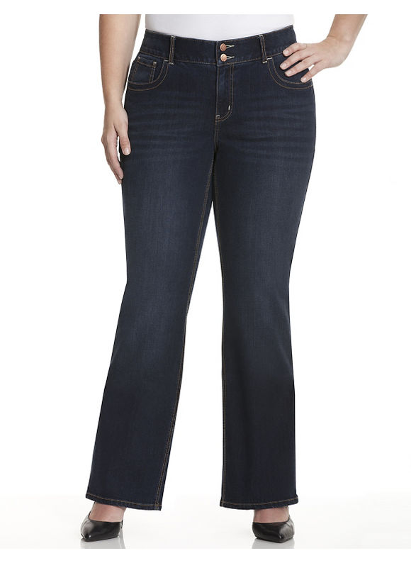 Lane Bryant Plus Size Bootcut jean with Tighter Tummy Technology - - Women's Size 16, Dark wash