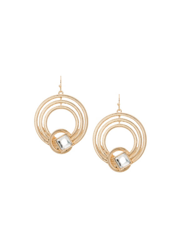 Lane Bryant Women's Lane Collection knotted hoop earrings -