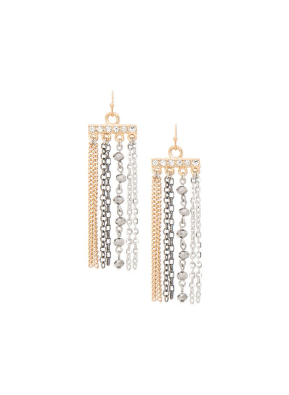 Lane Bryant Women's Multi chain earrings by -