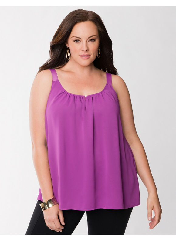Pasazz.net Favorite -  Lane Bryant Plus Size Lane Collection grosgrain tank - - Women's Size 18, Violetta