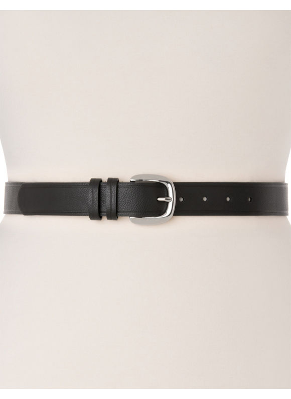 Lane Bryant Plus Size Essential double keeper belt - Black