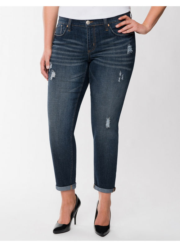 Lane Bryant Plus Size Skinny boyfriend jean by Seven7 - - Women's Size 22,24, Medium rinse