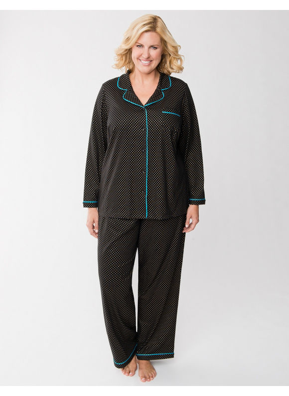 Lane Bryant Plus Size Shimmer dot PJ set - Shimmer Dot
