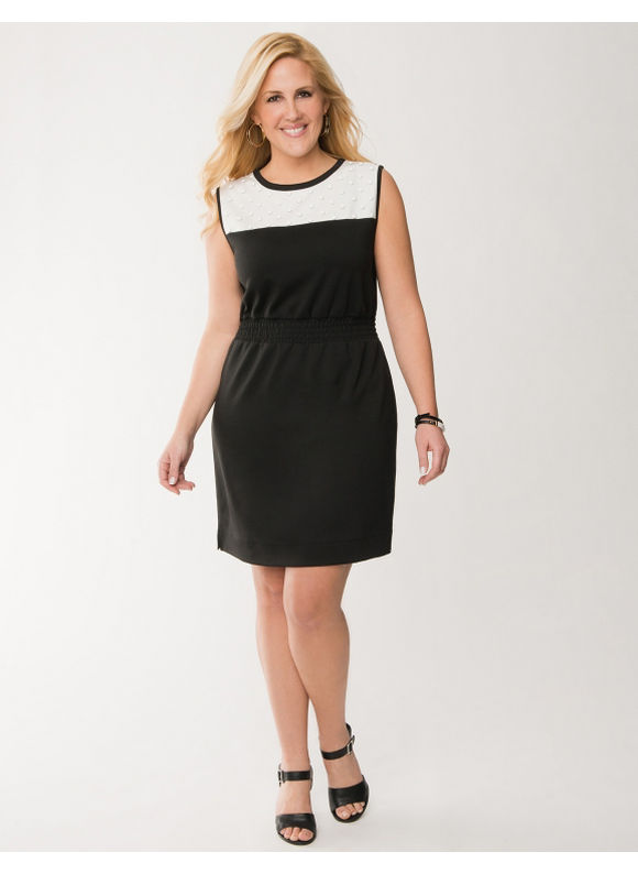 Lane Bryant Plus Size Embellished sheath dress - - Women's Size 22/24, Black