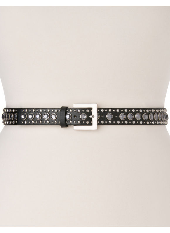 Lane Bryant Plus Size Studded belt - Black