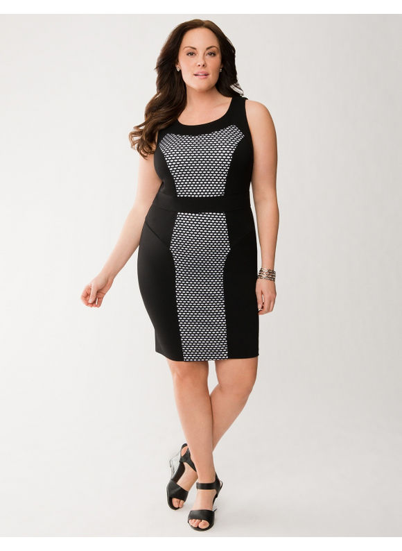 29cd2678db5 Lane Bryant Plus Size Lane Collection perforated sheath dress Womens Size