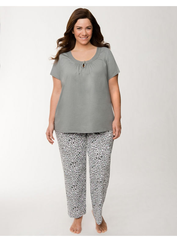 Lane Bryant Plus Size Animal print sleep set - Animal Print