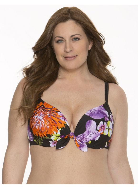 b3c76a1625d Lane Bryant Plus Size Floral twisted bikini top Womens Size 40D ...
