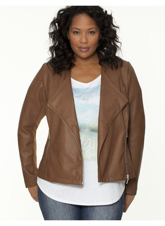 Ribbed Moto Jacket, Lane Bryant, $99.95