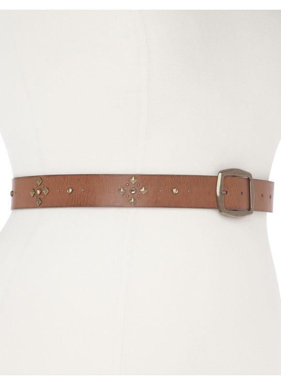 Lane Bryant Plus Size Studded belt, brown