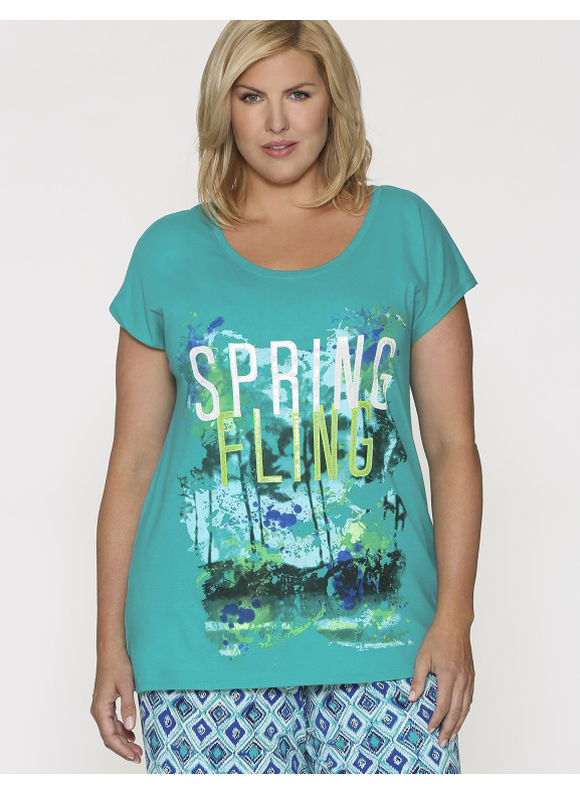 Plus Size sleep tee - Size 14/16, Spring Fling by Lane Bryant