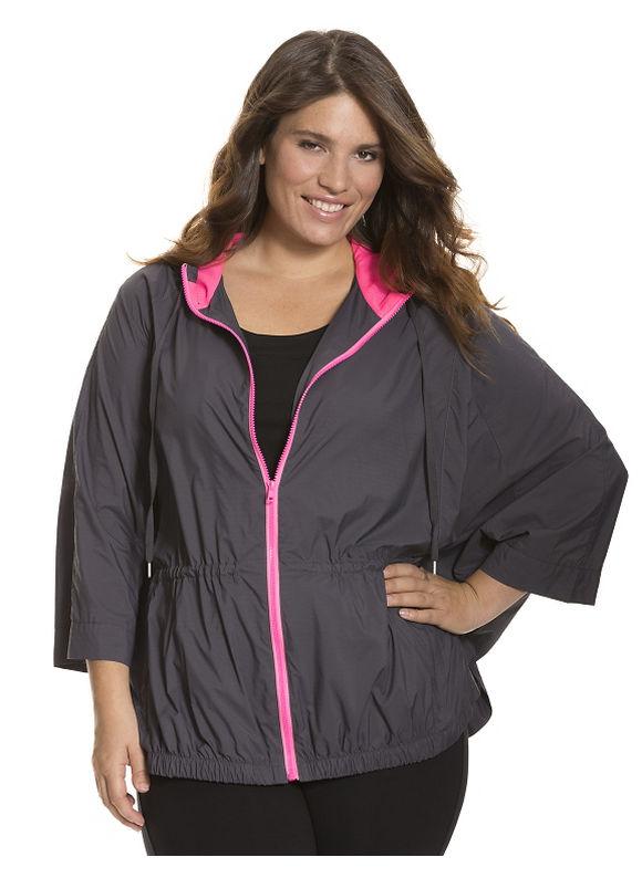 Lane Bryant Plus Size Batwing active jacket - - Women's Size 26/28, Nine Iron