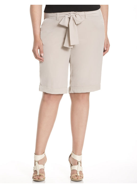 Lane Bryant Plus Size Lane Collection soft Bermuda short - Chocolate truffle