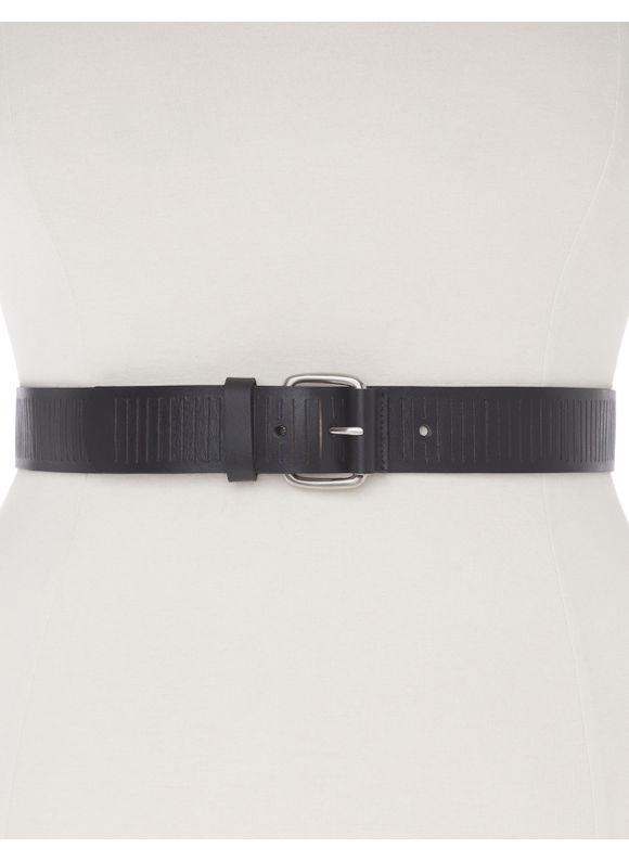 Lane Bryant Plus Size Slitted leather belt, black