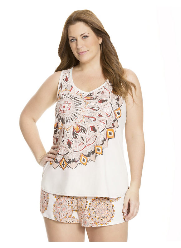 Lane Bryant Plus Size Sequined sleep tank - Boho