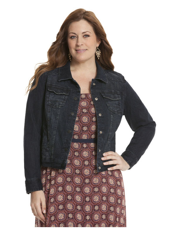 plus size black jean jacket - Jean Yu Beauty