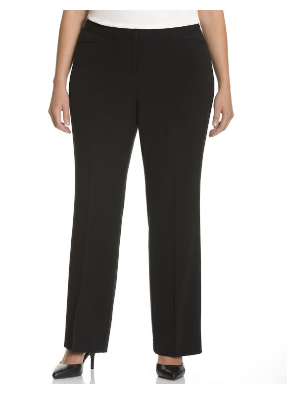 Lane Bryant Plus Size Ashley Tailored Stretch Trouser with Tighter Tummy Technology Size 14, black - Lane Bryant ~ Trendy Plus Size Clothes