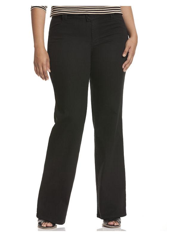 Lane Bryant Plus Size Genius Fit™ colored denim trouser Size 28, black