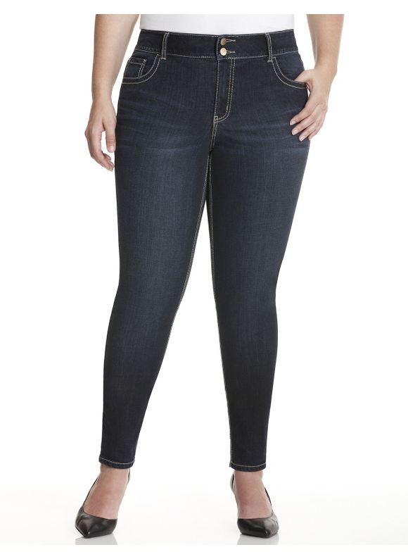 Lane Bryant Plus Size Skinny jean with Tighter Tummy Technology Size 16, blue