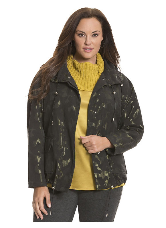 Lane Bryant Plus Size 6th & Lane urban camo jacket Size 26/28, black - Lane Bryant ~ Trendy Plus Size Clothes