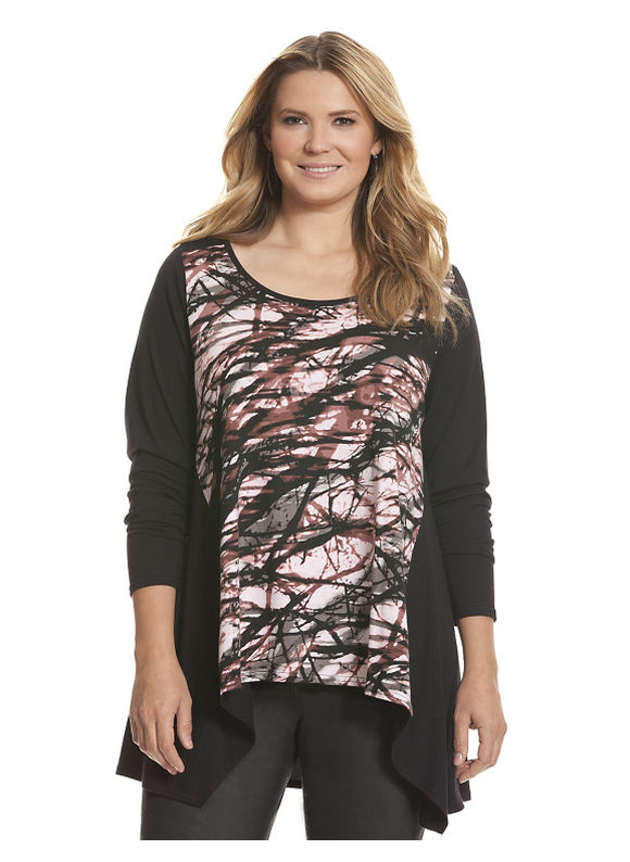 Lane Bryant - Twiggy print tunic Plus Size/Black Tops