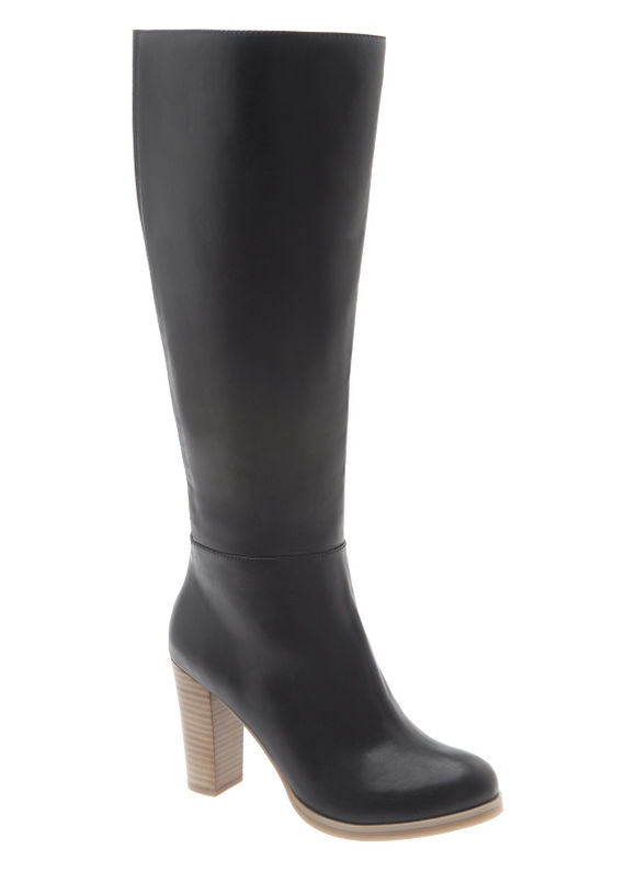 Lane Bryant Wide Calf Stacked heel dress boot Size 9 W, black