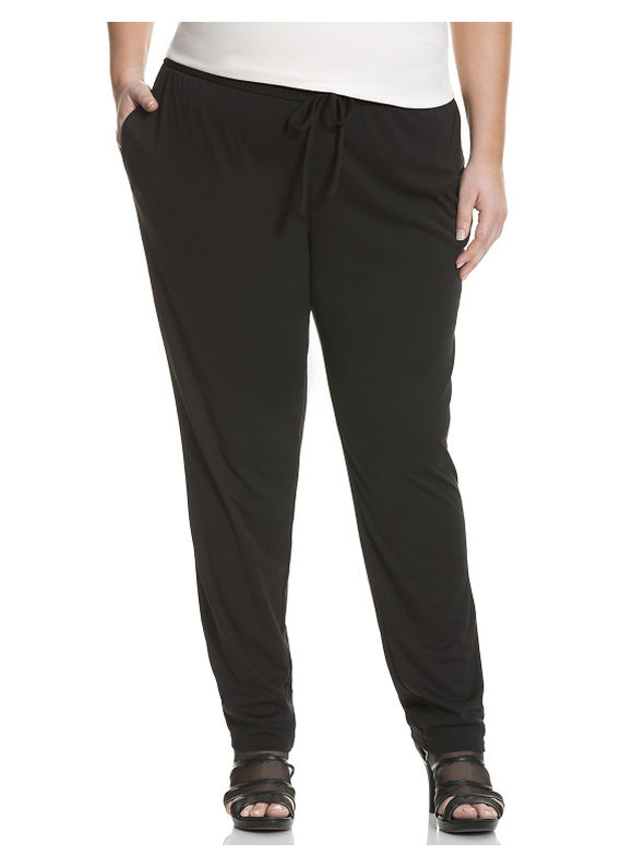 Plus Size Straight leg elastic leg pant by DKNYC - Size 1X, Black by Lane Bryant