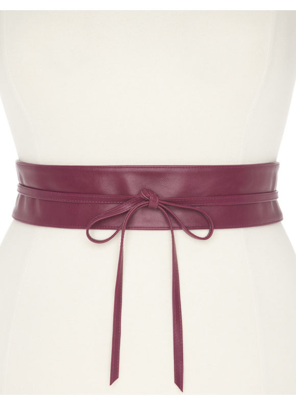 Lane Bryant Plus Size Obi wrap belt - Midnight Rose