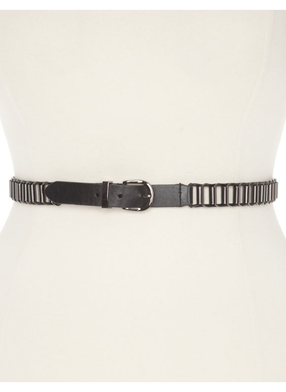 Lane Bryant Plus Size Tubular link belt - Black