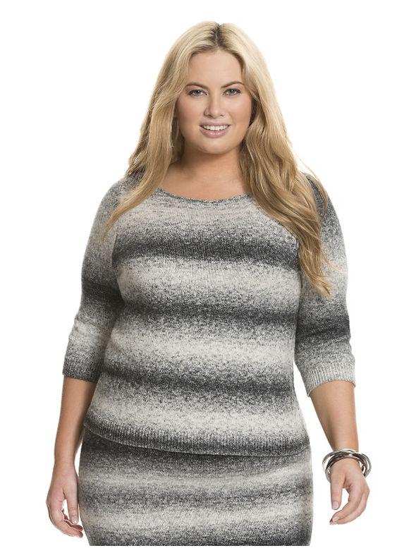Lane Bryant Plus Size Space dye sweater Size 22/24, black