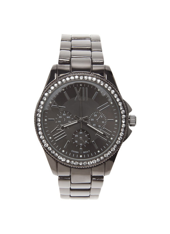 Lane Bryant Plus Size Cubic zirconium watch by - - Women's Size One Size, Hematite