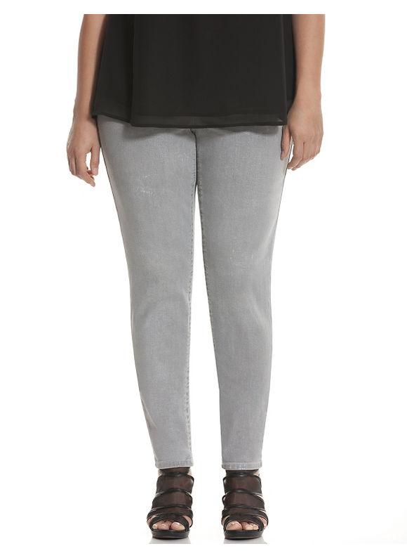 Lane Bryant Plus Size Genius Fit™ pearlized skinny jean Size 14, grey