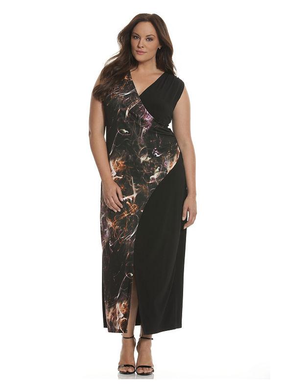 Plus Size 6th & Lane print block maxi dress - Tuscan Red dresses & skirts by Lane Bryant