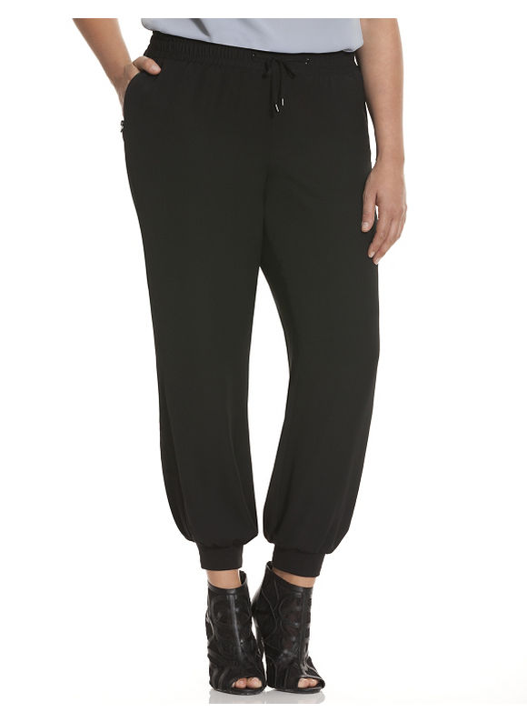 Lane Bryant Plus Size 6th & Lane athletic pant Size 12, black - Lane Bryant ~ Trendy Plus Size Clothes