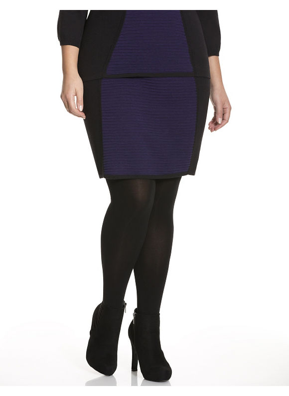 Lane Bryant Plus Size Colorblock sweater skirt Size 14/16, purple - Lane Bryant ~ Trendy Plus Size Clothes