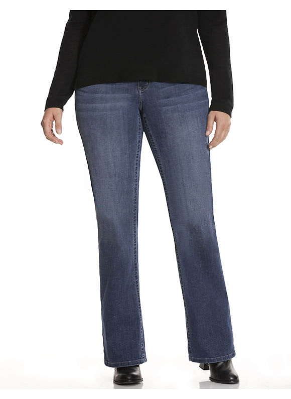 Lane Bryant Plus Size Genius Fit™ bootcut jean,  Women' Size: 16,  Denim Blue plus size,  plus size fashion plus size appare