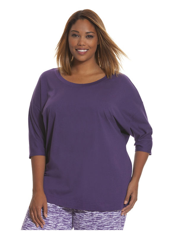 Lane Bryant Plus Size Dolman sleep top Size 14/16, violet - Lane Bryant ~ Trendy Plus Size Clothes