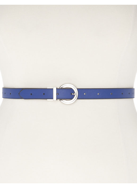 Lane Bryant Plus Size Reversible belt blue